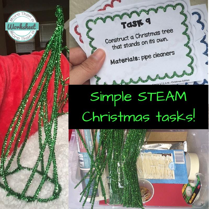 Simple STEAM Christmas Tasks - STEM Activities for Kids