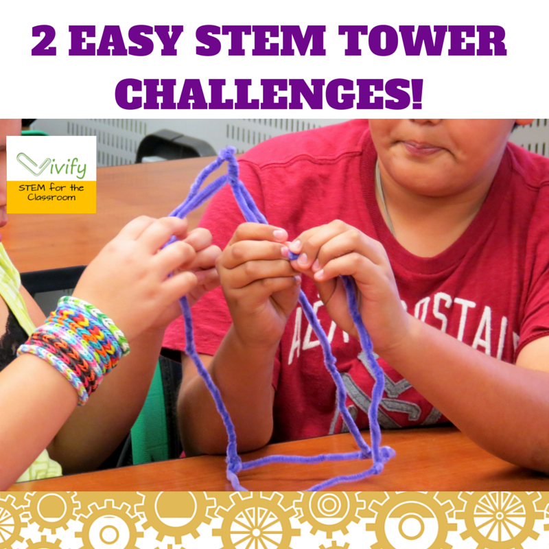 Best Stem Challenge Ever: Two Easy STEM Tower Challenges!