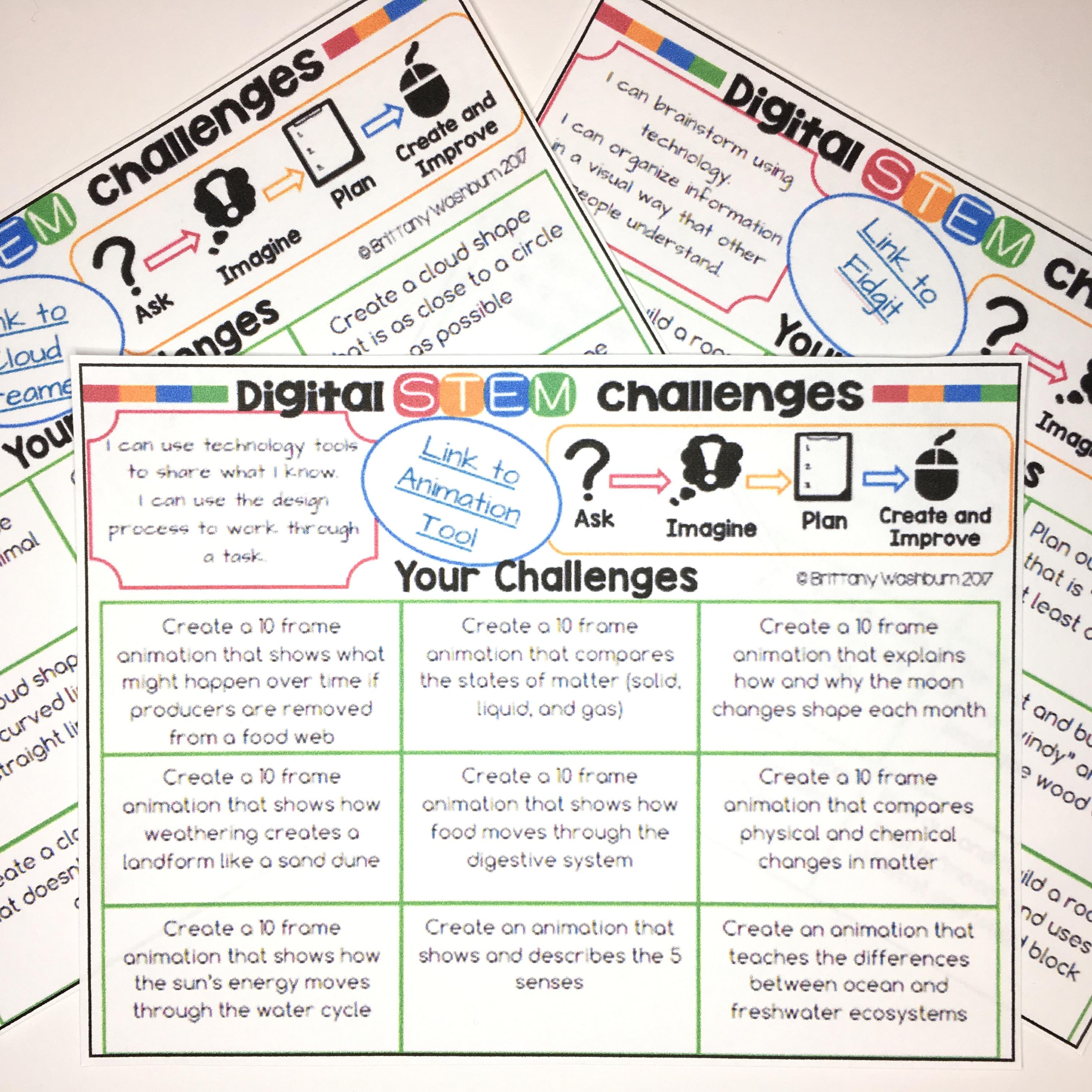 Digital Stem Challenges For Websites And Apps Stem Activities For Kids